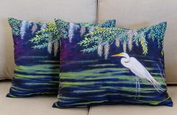 Egret Lagoon Pillow - Set of 2