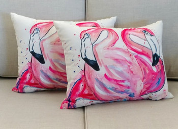 Betsy's Flamingo Pillow - Set of 2