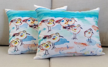 7 Sanderlings Pillow - Set of 2