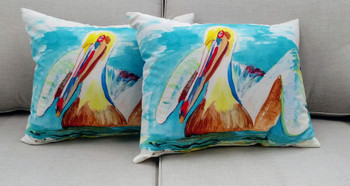 Pelican in Teal Pillow - Set of 2 NC715-50