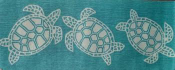 """Aqua Turtle Runner - 24"""" x 60"""""""