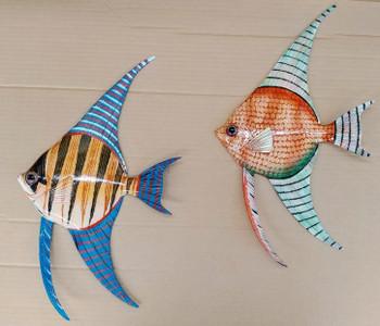 """15"""" Angle Fish Wall Plaque - Set of 2"""