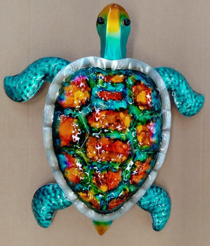 Metal Sea Turtle Wall Decor