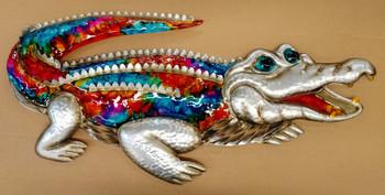 Metal Alligator Wall Art