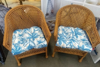 Freemont Chambray Chair Cushion - Set of 2