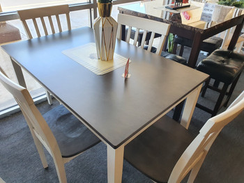 Brody 5 pc Dining Set 2182SET-WH/GY-25
