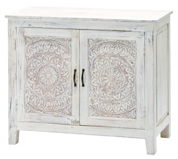 Carved Lace Cabinet