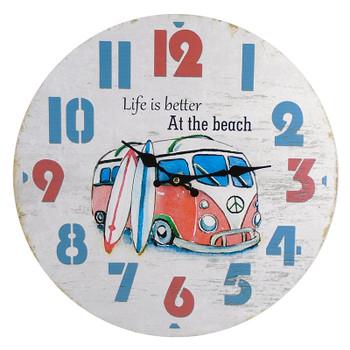 """15-3/4"""" BEACH VAN WALL CLOCK"""