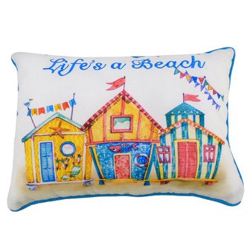 "12"" LIFE'S A BEACH PILLOW"