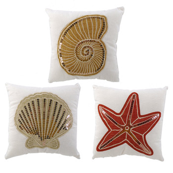 "10"" SEASHELL PILLOW - EACH"