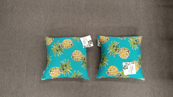 PINEAPPLETS TEAL PILLOW-Set of 2