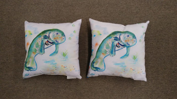 Betsy's Manatee Pillow - Set of 2