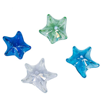 Pearly Glass Starfish-Set of 3