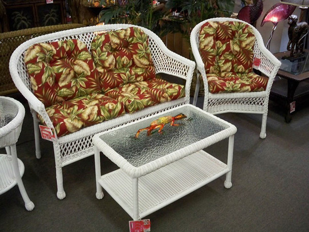 3PC BREEZE SETTEE SET-WHITE