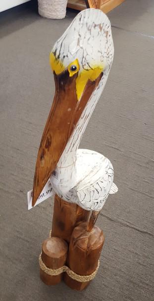 Wood Carved Pelican 23738-2