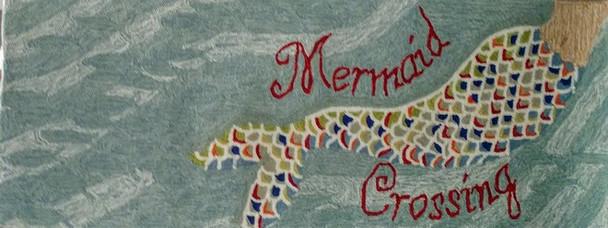 """Mermaid Crossing Runner - 24"""" x 60"""""""