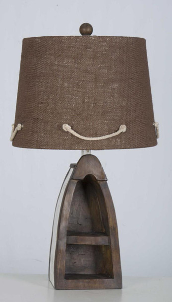 Dark Boat Table Lamp
