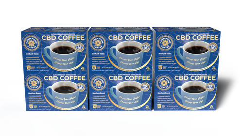 Medium Roast CBD Coffee Case of 6 Boxes (60 pods)