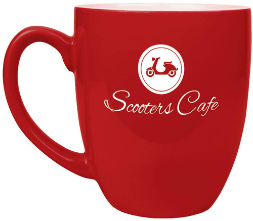 Red 16 oz. Ceramic Bistro Coffee Mug