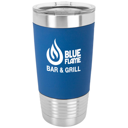 Custom Engraved 20 oz. Insulated Travel Mug with Silicone Grip