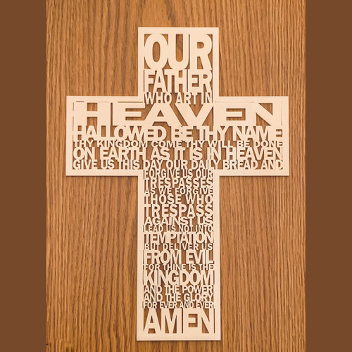 Lord's prayer wall cross