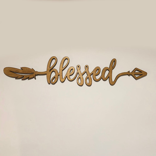 Blessed Arrow Wood Sign