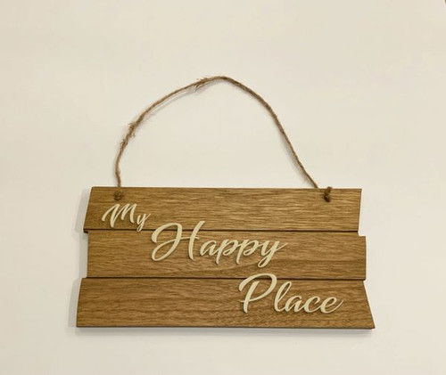 My Happy Place wall sign.