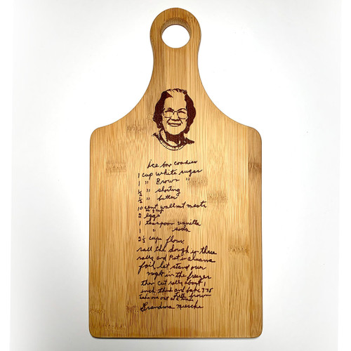 Paddle Style Customized Bamboo Cutting Board