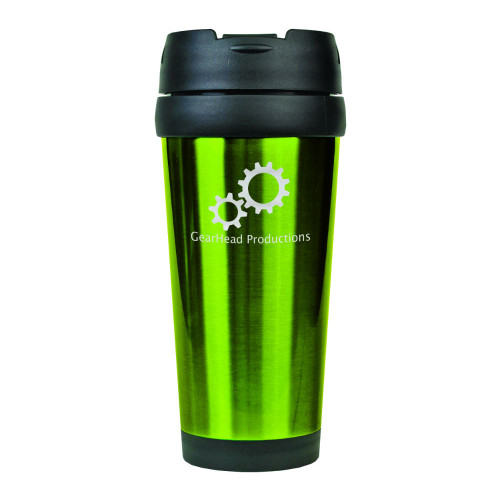 Green 16 oz. Stainless Steel Travel Mug