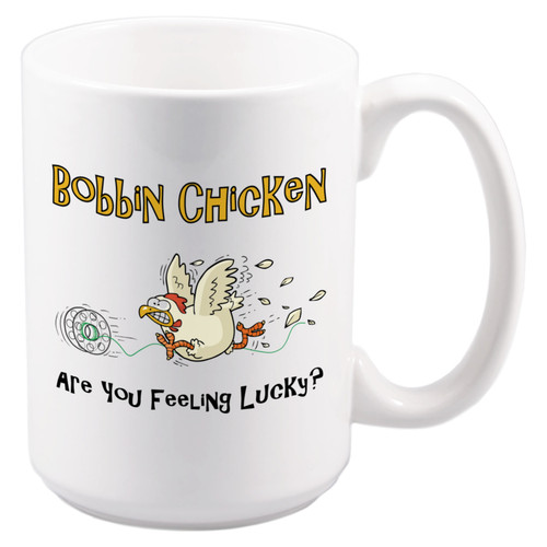 ceramic, chicken bobbin, sewing, craft, coffee