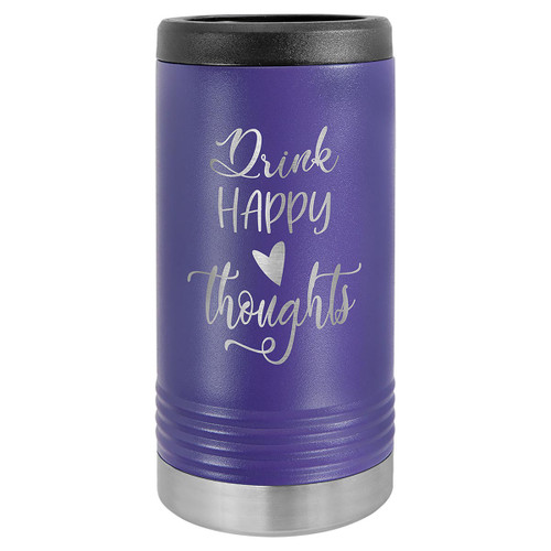 Purple Slim Insulated Beverage Holder