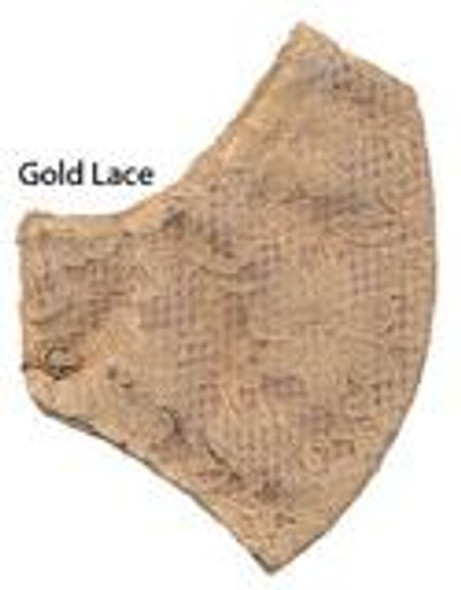 Gold Lace I Can Breathe Honeycomb Carbon Filter Allergy Mask