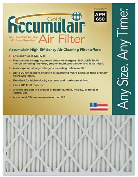 Accumulair Gold Replacement Air and Furnace Filters