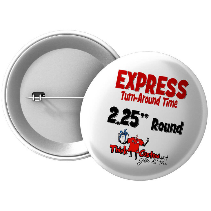 "Buttons 2.25"" Round (Express) - Single Photo"