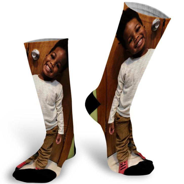 Single Photo Socks Personalized