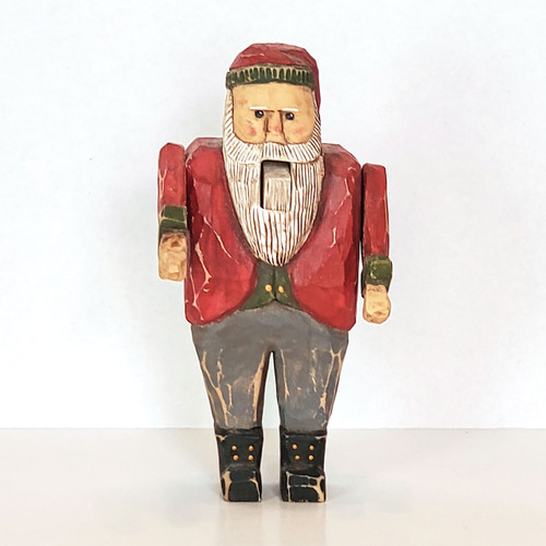 Hand Carved Nutcracker Santa Front View