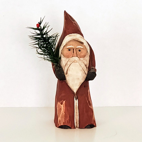 Hand Carved Small Belsnickel Santa Front View