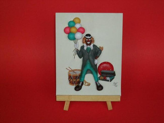 Carni Clown Plaque - Annie Lee