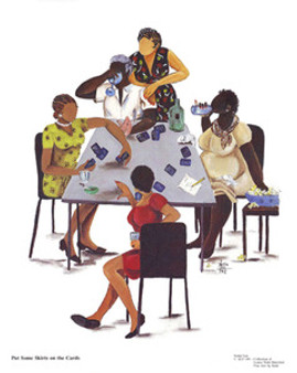 Put Some Skirts on the Cards Art Print - Annie Lee