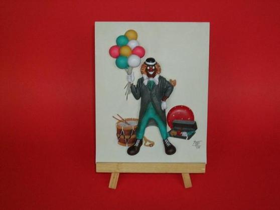 Carni Clown Plaque - Annie Lee