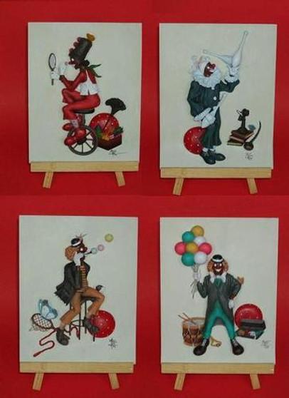Clown Plaques Set of 4 - Annie Lee