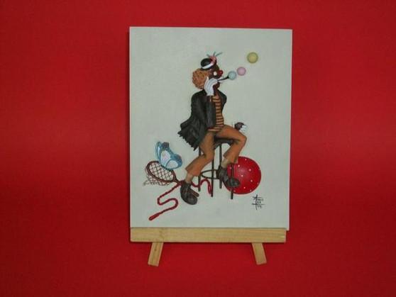 Bubbles Clown Plaque - Annie Lee