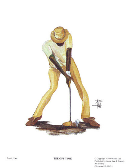 Tee Off Time (mini) Art Print - Annie Lee