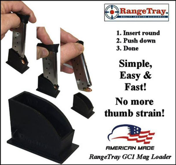 "RangeTray ""Thumbless"" Magazine Loader - Taurus Curve .380"