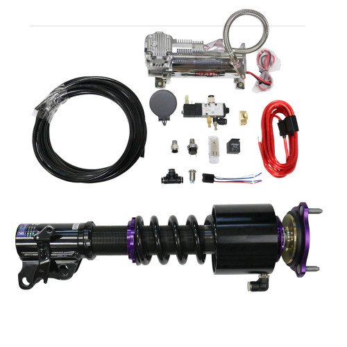 RS Coilovers w/ Front Air Cups + Gold Tankless Control System #D-VO-28-VACF-12+D2-ACK03
