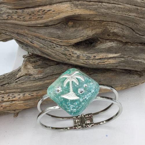 Palm Tree Hinge Bracelet