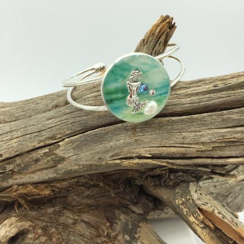 Mermaid Circle Cuff Bracelet