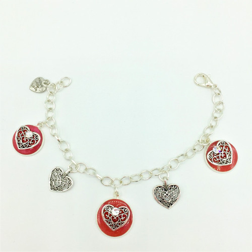 5 Charm Bracelet.  Approx 7.5 inches