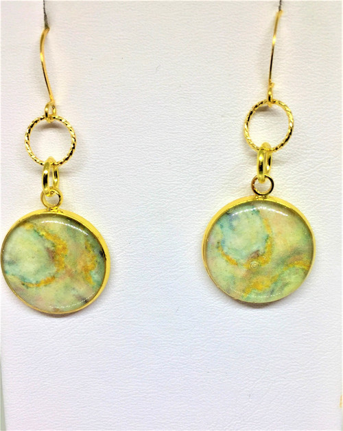 Shop Now  Brenda Wolfe Jewelry -Paige-Rockefeller Glam Gold  16 mm Dangle Earrings on Gold Plated French Wires