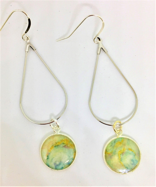 """Length is 3 """" Teardrop Earring on Sterling Silver French Wires 